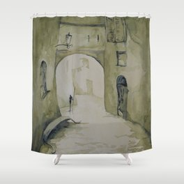 Along the streets Shower Curtain