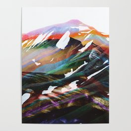 Abstract Mountains II Poster