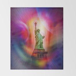 New York NYC - Statue of Liberty 2 Throw Blanket