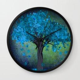 TREE OF BLUE Wall Clock
