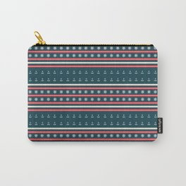 Ships Ahoy Blue/Red Stripe Carry-All Pouch