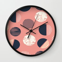 Abstract Circles In Pink Wall Clock