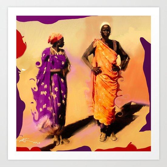 Land Of The Sahara Art Print