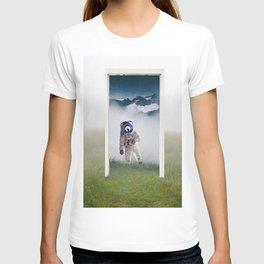 The Doorway-Astronaut in the Portal T-shirt