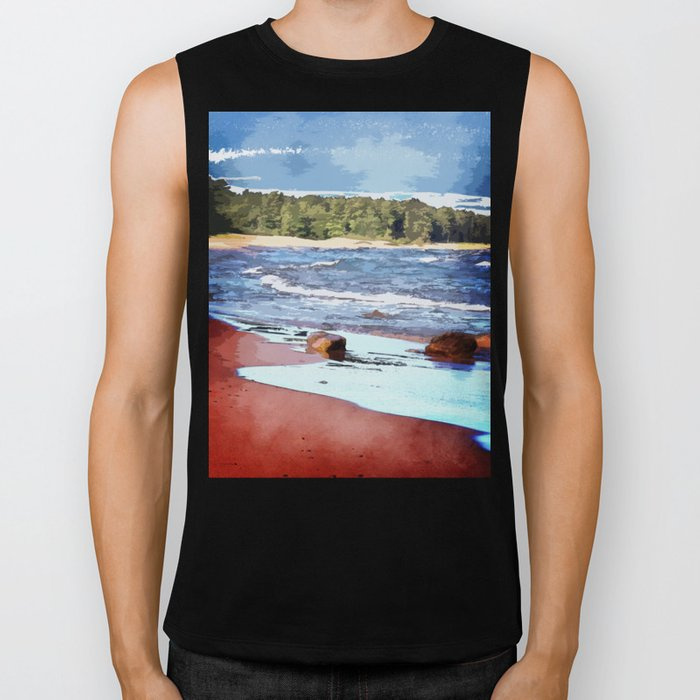 Lake Superior Bay Biker Tank