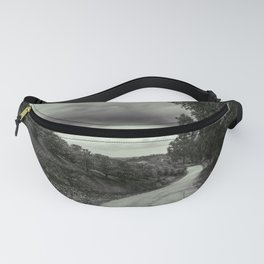 Rural Road - Black and White Fanny Pack