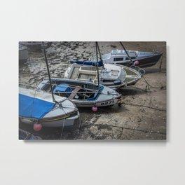 Beached Boats Metal Print