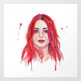 Frances Bean Cobain Art Print
