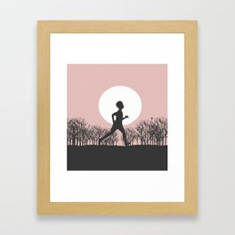 Run forest Run! Framed Art Print