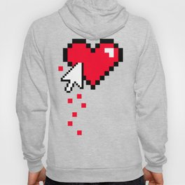 Broken 8 bits Heart Hoody
