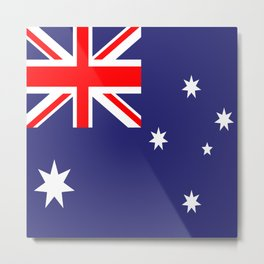 Flag of Australia Metal Print