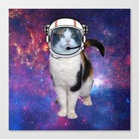space cat Canvas Prints featuring Space cat by S.Levis