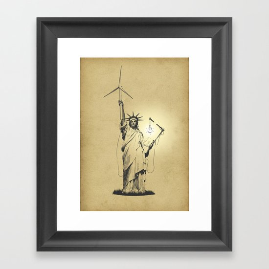 And then there was light Framed Art Print
