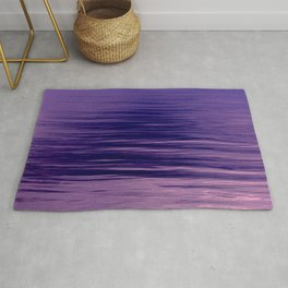 Movement of Water on a Calm Evening- Violet Abstraction Rug