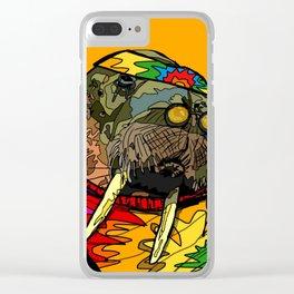 Hippie Walrus Clear iPhone Case