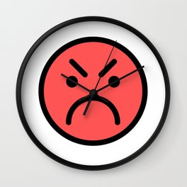 Smiley Face   Red Angry Face Wall Clock