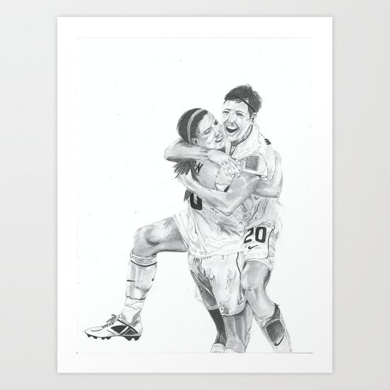 Abby Wambach and Alex Morgan  Art Print