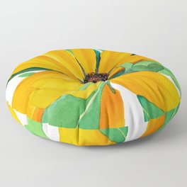 Sunshine Daisy Floor Pillow