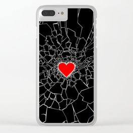 Heartbreaker III Black Clear iPhone Case