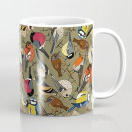 winter garden birds olive Coffee Mug