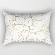 Gold faux foil chic floral elegant pattern Rectangular Pillow