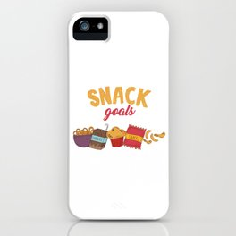 Food Lovers Foodies Tiny Meals Eats Goodies Gift Snack Goals iPhone Case