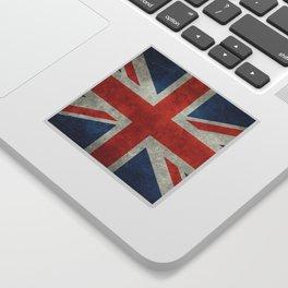 "UK British Union Jack flag ""Bright"" retro Sticker"