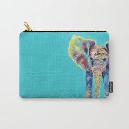 Baby Blue Elephant Carry-All Pouch