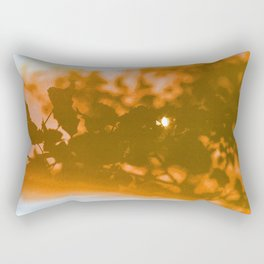 orange haze and white sunlight Rectangular Pillow
