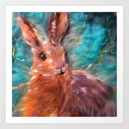 Hare I am Art Print
