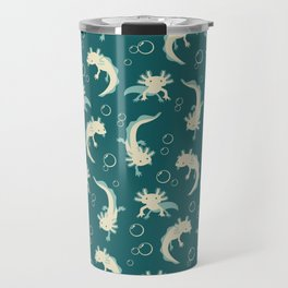 Relaxolotl - Teal Travel Mug