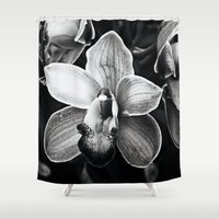 orchid Shower Curtains featuring Orchid  by Ethna Gillespie