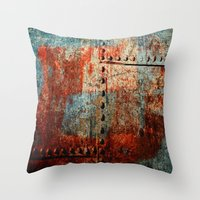 leather Throw Pillows featuring Synthetic Leather by Fernando Vieira