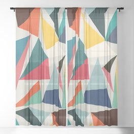 Collection of pointy summit Sheer Curtain