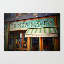 Le New Haven Restaurant Canvas Print