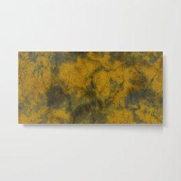 Old Yellow Green Metal Print