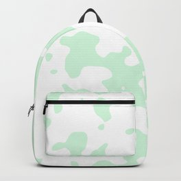 Large Spots - White and Pastel Green Backpack