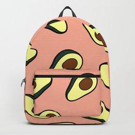 Avocado Pattern in Pink Backpack