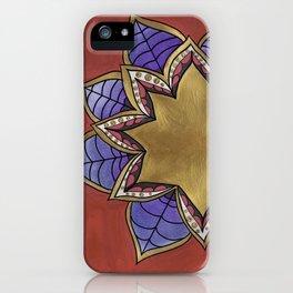 Zentangle Flower Loto (Pastel & Acrylic ) iPhone Case