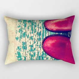 Red Boots and Possibilities Rectangular Pillow