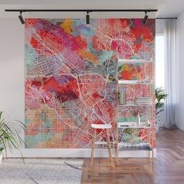 Glendale map California painting 2 Wall Mural