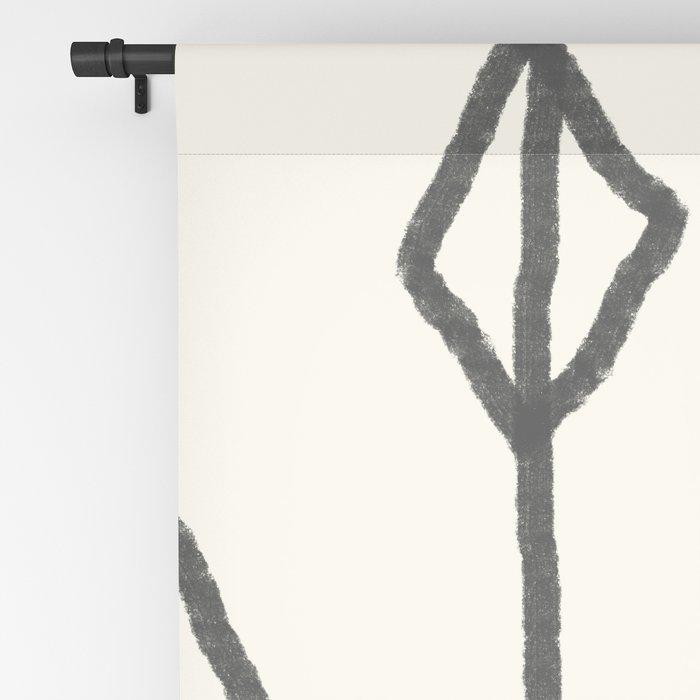 Hand-drawn diamond pattern Blackout Curtain