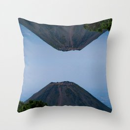 Double view to the Pacific lighthouse Throw Pillow