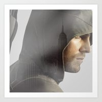 green arrow Art Prints featuring GREEN ARROW by ARI RIZKI