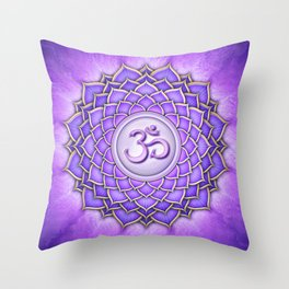 Sahasrara Chakra - Crown Chakra II-I - Series II Throw Pillow