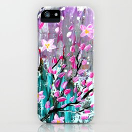 Sakura in the wind iPhone Case