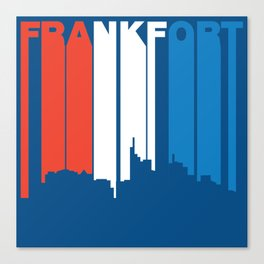 Red White And Blue Frankfort Kentucky Skyline Canvas Print
