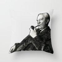 tolkien Throw Pillows featuring Tolkien - Wander - Alt by Illyrio_Mopatis