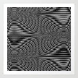 Wave (dark moire) Art Print