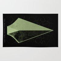 green arrow Area & Throw Rugs featuring The Arrow by Ed Burczyk